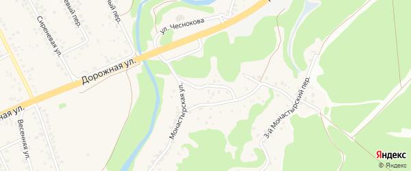 4-й Монастырский переулок на карте села Каплино с номерами домов