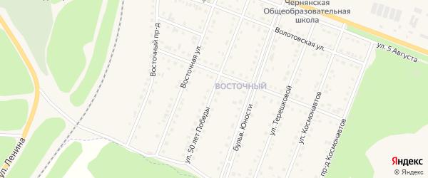 Улица 50 лет Победы на карте поселка Чернянка с номерами домов