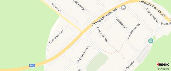 Придорожная улица на карте села Ниновки с номерами домов
