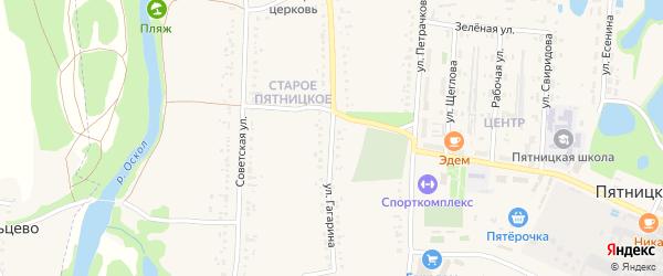 Улица Гагарина на карте поселка Пятницкого с номерами домов