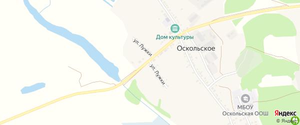 Улица Лужки на карте Оскольского села с номерами домов