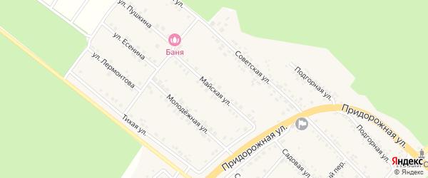 Майская улица на карте села Ниновки с номерами домов