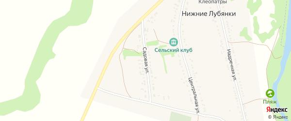 Садовая улица на карте села Нижние Лубянки с номерами домов