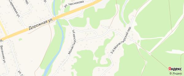 1-й Монастырский переулок на карте села Каплино с номерами домов
