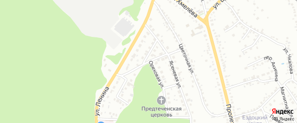 2-й Ясеневый переулок на карте Старого Оскола с номерами домов