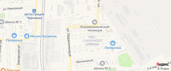 Пионерская улица на карте поселка Чернянка с номерами домов