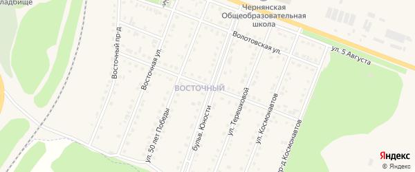 Юбилейная улица на карте поселка Чернянка с номерами домов