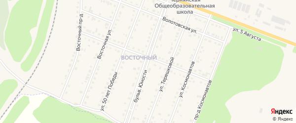 Бульвар Юности на карте поселка Чернянка с номерами домов