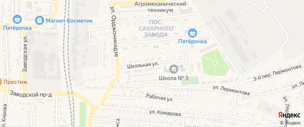 Школьная улица на карте поселка Чернянка с номерами домов