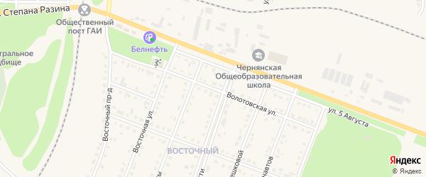 Волотовская улица на карте поселка Чернянка с номерами домов