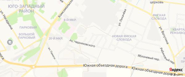 Ямской ГСК на карте Старого Оскола с номерами домов