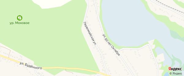 Первомайская улица на карте поселка Волоконовки с номерами домов