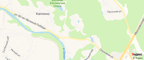 Тенистая улица на карте села Каплино с номерами домов