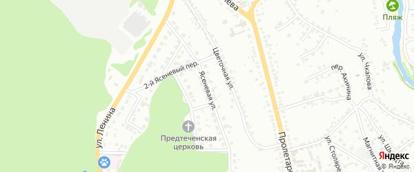 Ясеневая улица на карте Старого Оскола с номерами домов