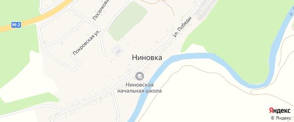 Покровская улица на карте села Ниновки с номерами домов