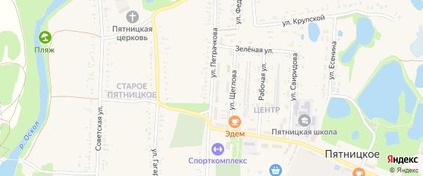 Улица Петрачкова на карте поселка Пятницкого с номерами домов