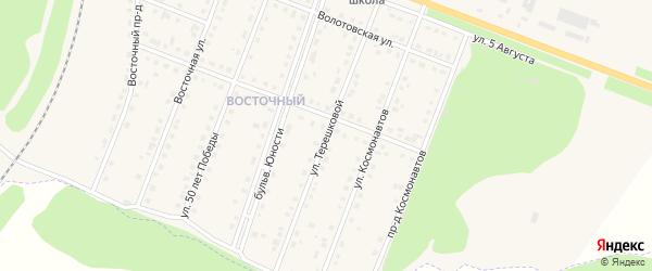 Улица Терешковой на карте поселка Чернянка с номерами домов