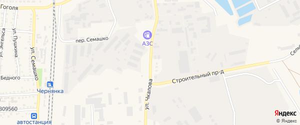 Улица Чкалова на карте поселка Чернянка с номерами домов