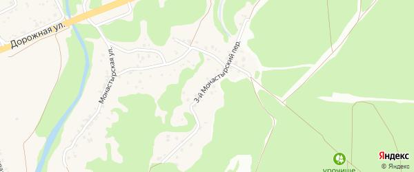 3-й Монастырский переулок на карте села Каплино с номерами домов