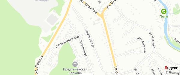Цветочная улица на карте Старого Оскола с номерами домов