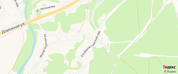 2-й Монастырский переулок на карте села Каплино с номерами домов