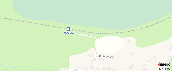 Привокзальная улица на карте поселка Шасты с номерами домов