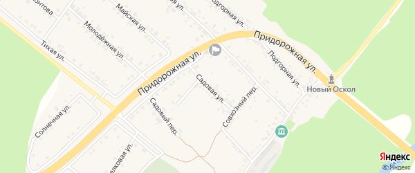Садовая улица на карте села Ниновки с номерами домов