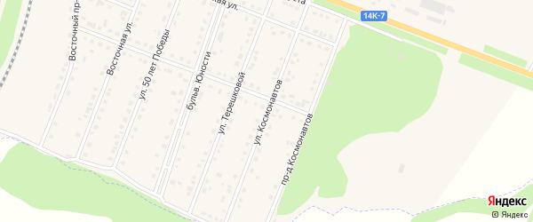 Улица Космонавтов на карте поселка Чернянка с номерами домов