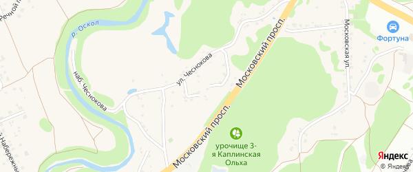 Переулок Чеснокова на карте села Каплино с номерами домов