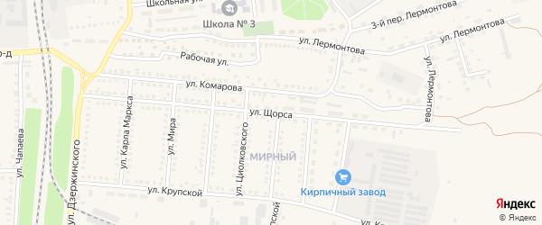 Улица Щорса на карте поселка Чернянка с номерами домов