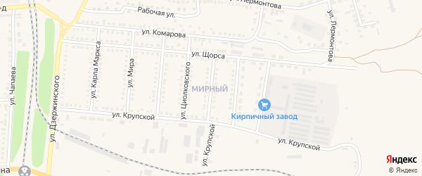 Улица Гагарина на карте поселка Чернянка с номерами домов