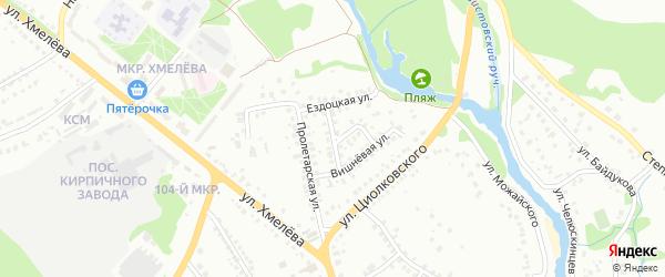 Клубничная улица на карте Старого Оскола с номерами домов