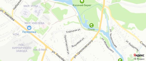 Ездоцкая улица на карте Старого Оскола с номерами домов