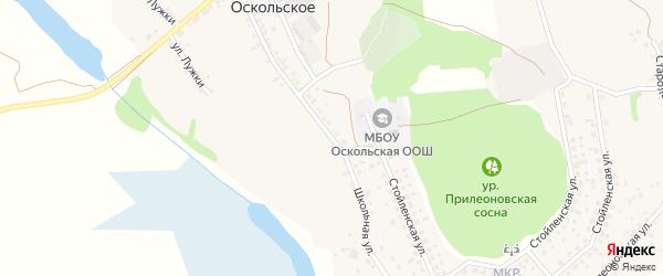 Школьная улица на карте Оскольского села с номерами домов