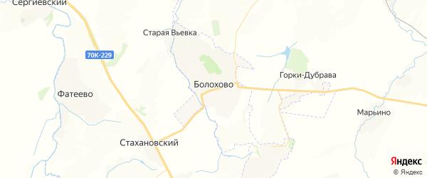 Карта Болохово с районами, улицами и номерами домов