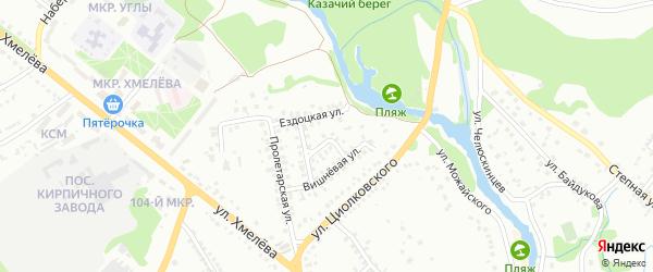 Клубничный переулок на карте Старого Оскола с номерами домов