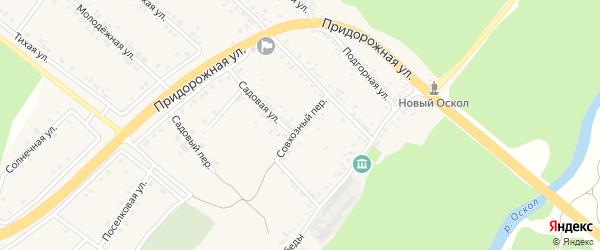 Совхозный переулок на карте села Ниновки с номерами домов