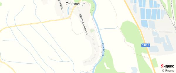 Карта села Осколища в Белгородской области с улицами и номерами домов
