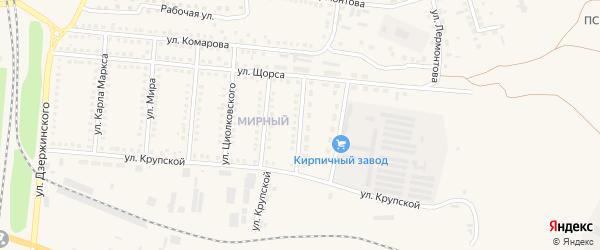 Улица Островского на карте поселка Чернянка с номерами домов