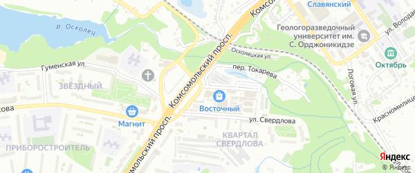 Улица Токарева на карте Старого Оскола с номерами домов