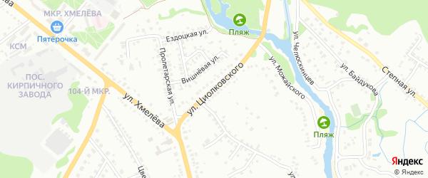 Улица Циолковского на карте Старого Оскола с номерами домов