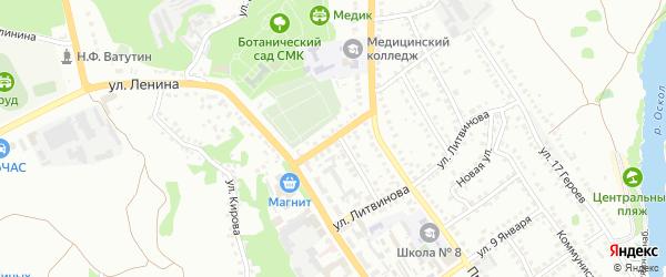 Красноармейский переулок на карте Старого Оскола с номерами домов