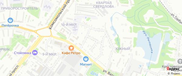 Кольцевая улица на карте Старого Оскола с номерами домов