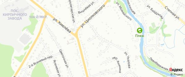 Переулок 2-й Чкалова на карте Старого Оскола с номерами домов