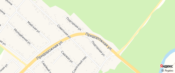 Подгорная улица на карте села Ниновки с номерами домов