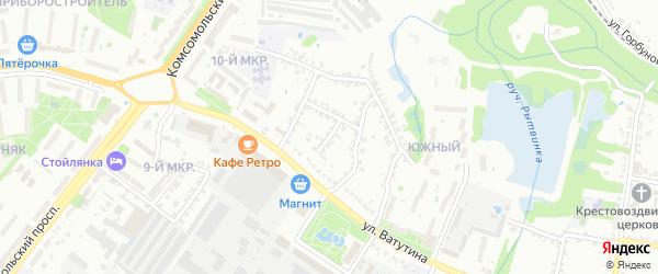 Кольцевой переулок на карте Старого Оскола с номерами домов