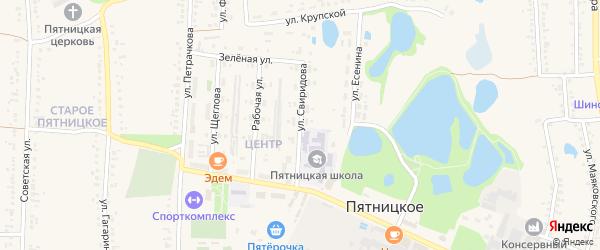 Улица Свиридова на карте поселка Пятницкого с номерами домов