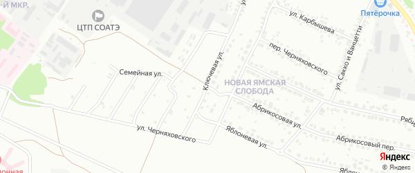 Ключевая улица на карте Старого Оскола с номерами домов