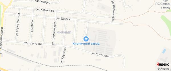 Улица Литвинова на карте поселка Чернянка с номерами домов
