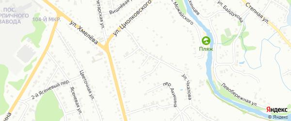 Переулок 1-й Чкалова на карте Старого Оскола с номерами домов